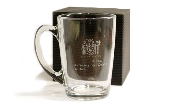 Picture of Law Society Glass Mug - 11oz