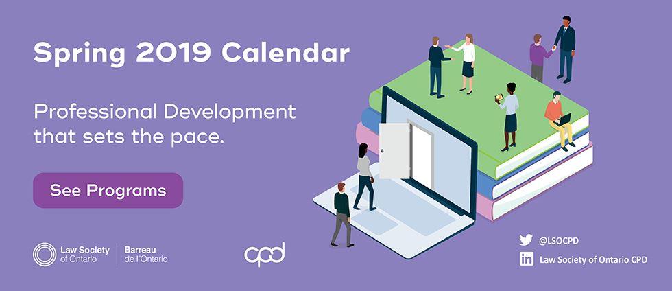 Spring 2019 Calendar