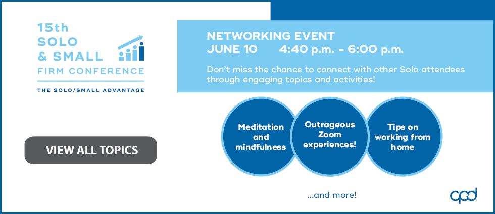 15th Solo & Small Firm Conference: Networking Event