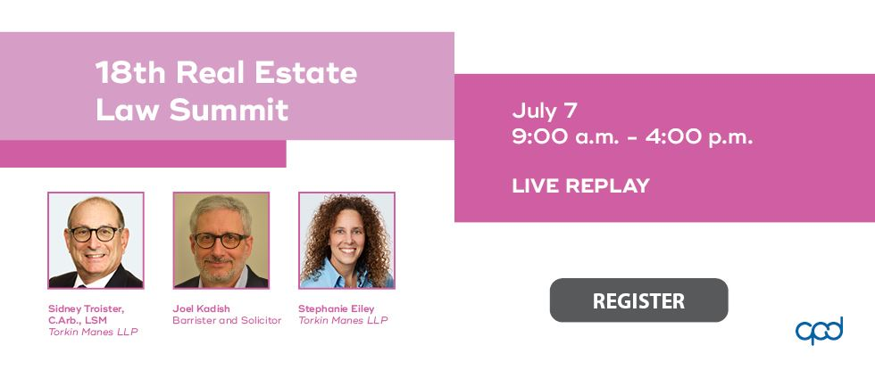 Replay: 18th Real Estate Law Summit