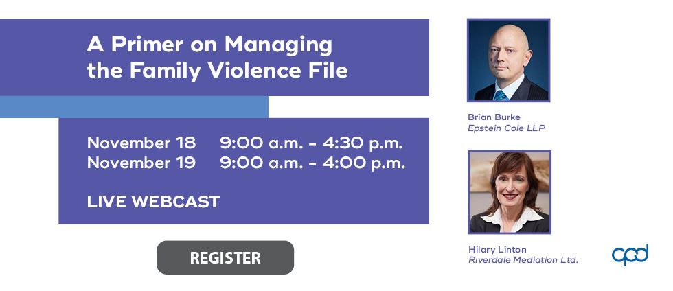 A Primer on Managing the Family Violence File