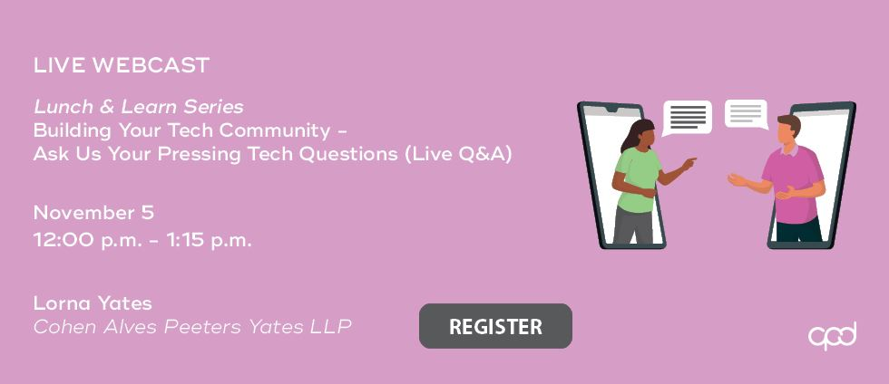 Lunch & Learn Series: Lunch & Learn Series Tech in Your Legal Practice - Tips from the Frontline #6 - Building Your Tech Community - Ask Us Your Pressing Tech Questions (Live Q&A)